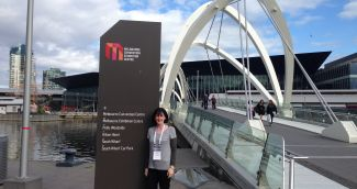 Sue at the Convention Centre in Melbourne